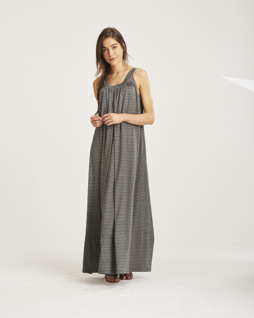 Gathered Floor Length Dress