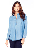 Chambray Maternity Shirt
