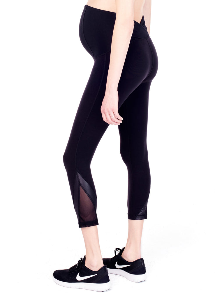 Active Maternity Capri with Mesh Insert