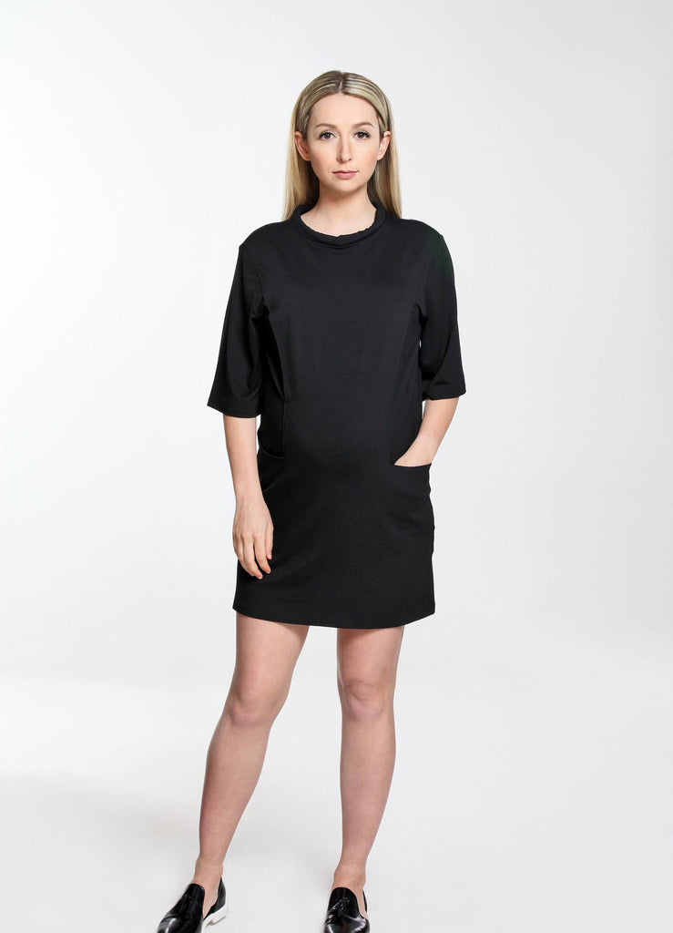 Rolled Neck Dress