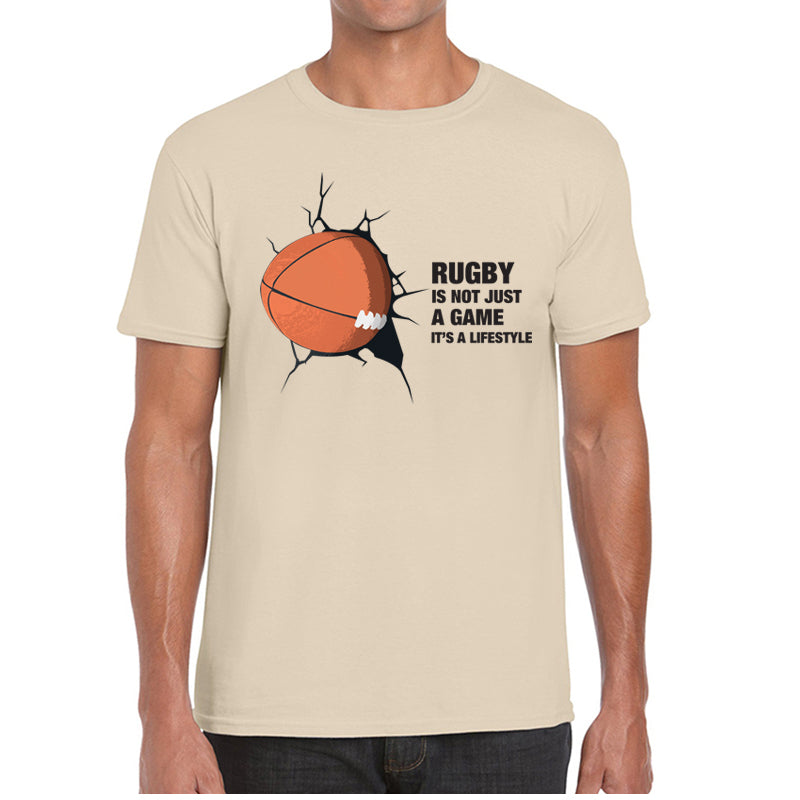Camiseta Masculina - Not Just A Game - Bege