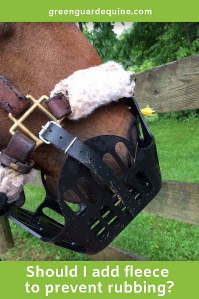 add fleece to grazing muzzle