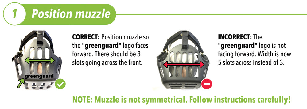 greenguard grazing muzzle fitting orientation