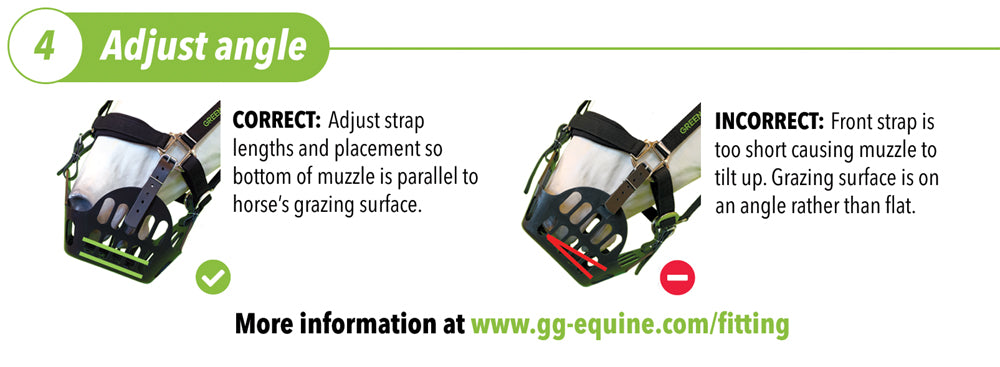 adjust angle of greenguard grazing muzzle