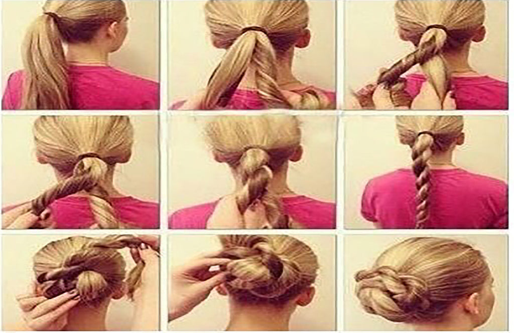 3 Ways to rock hair cuffs?big bun, part pony, sleek tail