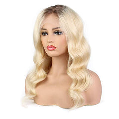 LETMESHINE #1B/613 Glueless Brazilian Virgin Hair Body Wave Lace Front Wig Human Hair Wig - LetMeShine Hair