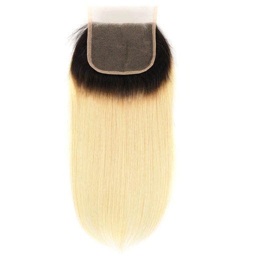 LETMESHINE #1B/613 Color Straight 4*4 or 5*5 Top Lace Closure Three Part Middle Part And Free Part Lace Closure 100% Virgin Human Hair - LetMeShine Hair