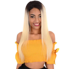 LETMESHINE FULL LACE WIG STRAIGHT #1B/613 COLOR GLUELESS 100% HUMAN HAIR WIG - LetMeShine Hair