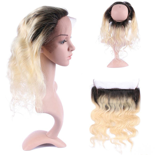 LETMESHINE 360 Lace Frontal #1b/613 Color Body Wave 100% Virgin Human Hair - LetMeShine Hair