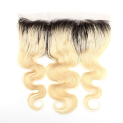 LETMESHINE #1B/613 COLOR BODY WAVE 13*4 OR 13*6 LACE FRONTAL THREE PART MIDDLE PART AND FREE PART 100% VIRGIN HUMAN HAIR - LetMeShine Hair