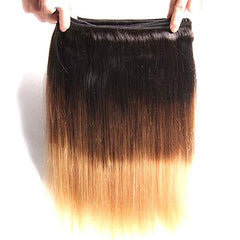 LETMESHINE 1B/27 COLOR STRAIGHT HUMAN HAIR WEAVE REMY HAIR - LetMeShine Hair