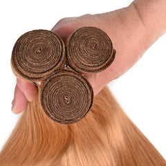 LETMESHINE #27 COLOR HONEY BLOND STRAIGHT HUMAN HAIR WEAVE REMY HAIR - LetMeShine Hair