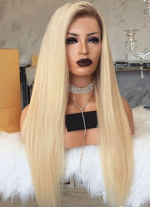 LETMESHINE  LACE WIG #4/613 COLOR GLUELESS 100% HUMAN HAIR WIG FRONTAL LACE WIG FULL LACE WIG 360 WIG - LetMeShine Hair