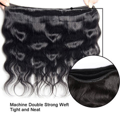 LETMESHINE Multi Pack Body Wave hair weave, 3 Bundles Pack, 100% Human Virgin Hair,  Natural Color - LetMeShine Hair
