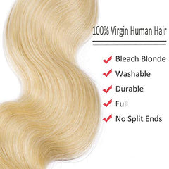 LETMESHINE #613 BLEACH BLOND COLOR STRAIGHT VIRGIN HUMAN HAIR WEAVE SINGLE BUNDLE - LetMeShine Hair