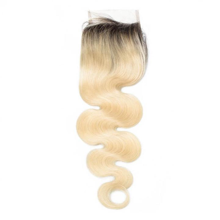 LETMESHINE #1B/613 Color Body Wave  4*4 OR 5*5 Top lace closure Three Part Middle Part And Free Part Lace Closure 100% Virgin Human Hair - LetMeShine Hair