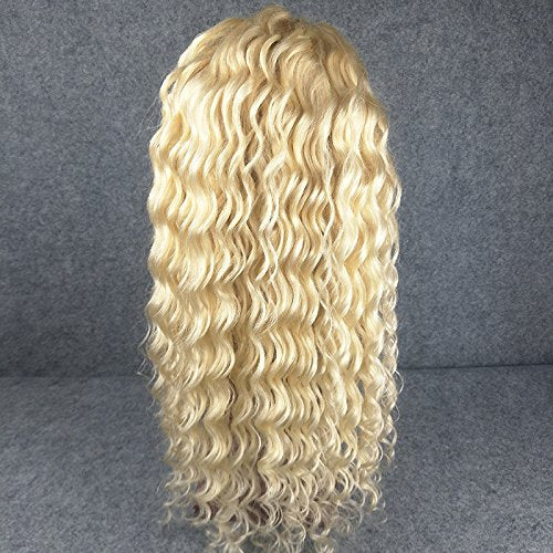 LETMESHINE 360 WIG DEEP WAVE #613 COLOR GLUELESS 100% HUMAN HAIR WIG - LetMeShine Hair