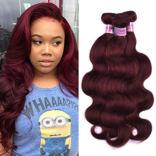 LETMESHINE #99J COLOR BODY WAVE HUMAN HAIR WEAVE REMY HAIR - LetMeShine Hair