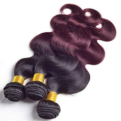 LETMESHINE #1B/99J COLOR HONEY BODY WAVE HUMAN HAIR WEAVE REMY HAIR - LetMeShine Hair