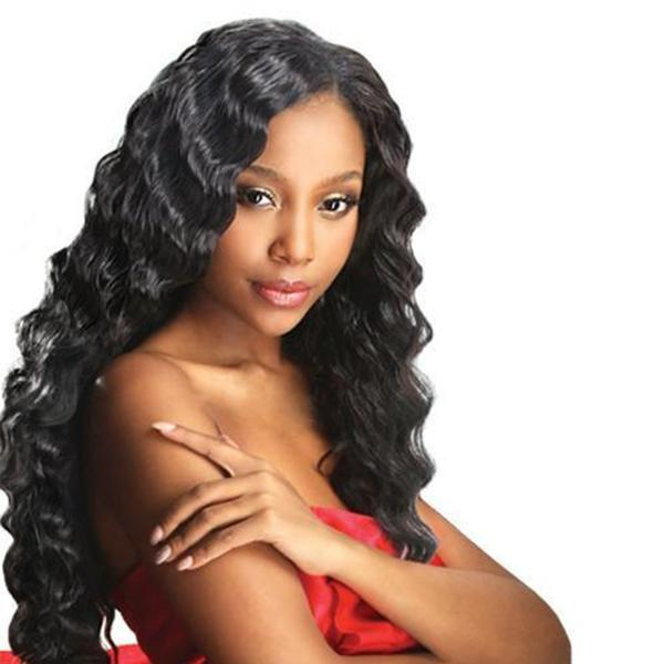 LETMESHINE 1B Natural Color Deep Wave Unprocessed Virgin Human Hair Weave Single Bundle Remy Hair - LetMeShine Hair