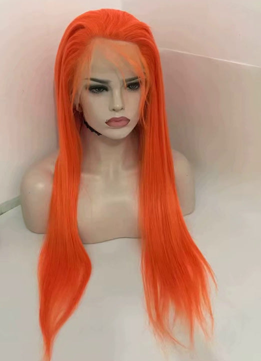 LETMESHINE  LACE WIG #ORANGE COLOR GLUELESS 100% HUMAN HAIR WIG FRONTAL LACE WIG FULL LACE WIG 360 WIG - LetMeShine Hair