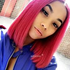 LETMESHINE BOB WIG FRONTAL LACE WIG STRAIGHT #RED OR #1B/RED COLOR GLUELESS 100% HUMAN HAIR WIG - LetMeShine Hair
