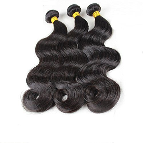 LETMESHINE Unprocessed Virgin Brazilian Body Wave Hair 3 Bundles Human Hair Weave