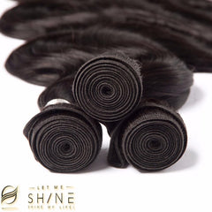 LETMESHINE HAIR SET 1B NATURAL COLOR BODY WAVE UNPROCESSED VIRGIN HUMAN HAIR WEAVE - LetMeShine Hair