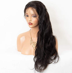 LETMESHINE Glueless Brazilian Virgin Hair Body Wave 360 Wig Natural Black Color Human Hair Wig - LetMeShine Hair