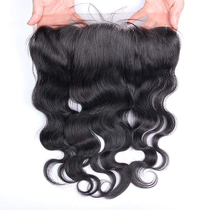 LETMESHINE Natural Color Body Wave 13*4 or 13*6 Lace Frontal Three Part Middle Part And Free Part 100% Virgin Human Hair