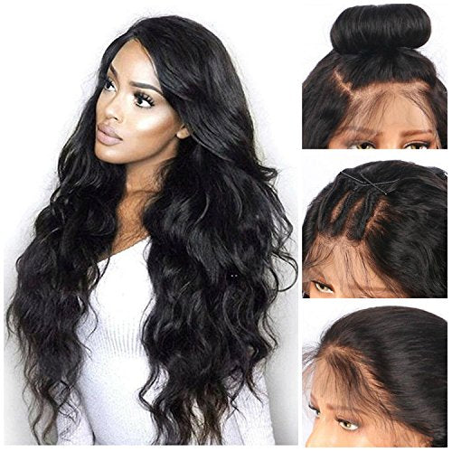 LETMESHINE FULL LACE WIG BODY WAVE NATURAL COLOR GLUELESS 100% HUMAN HAIR WIG - LetMeShine Hair