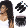 LETMESHINE DEEP WAVE HAIR WEAVE NATURAL COLOR 3 BUNDLES WITH 13*4 FRONTAL LACE CLOSURE 100% VIRGIN HUMAN HAIR - LetMeShine Hair
