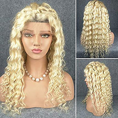 LETMESHINE FRONTAL LACE WIG DEEP WAVE #613 COLOR GLUELESS 100% HUMAN HAIR WIG LACE FRONT 13*4 OR 13*6 - LetMeShine Hair