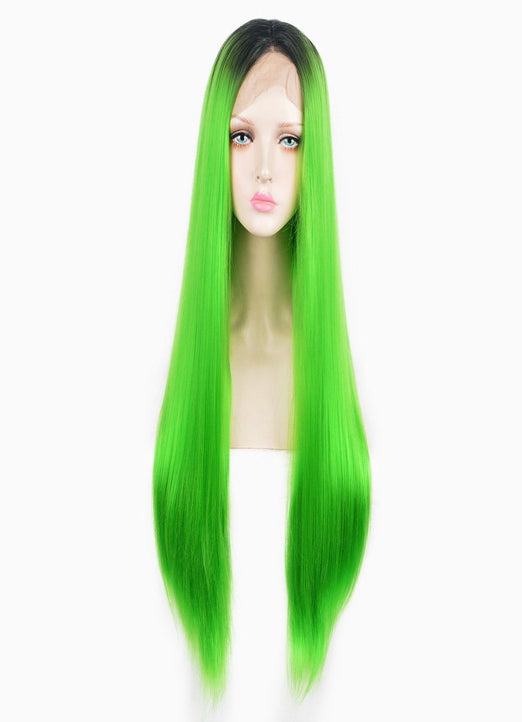 LETMESHINE  LACE WIG #LIGHT GREEN COLOR GLUELESS 100% HUMAN HAIR WIG FRONTAL LACE WIG FULL LACE WIG 360 WIG - LetMeShine Hair