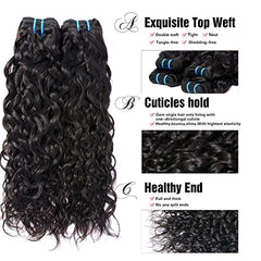 LETMESHINE HAIR SET 1B NATURAL COLOR Natural Wave UNPROCESSED VIRGIN HUMAN HAIR WEAVE - LetMeShine Hair