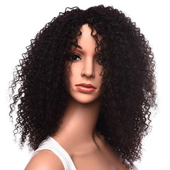 LETMESHINE FULL LACE WIG JERRY CURLY NATURAL COLOR GLUELESS 100% HUMAN HAIR WIG - LetMeShine Hair