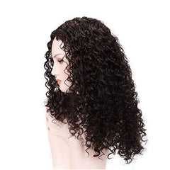 LETMESHINE FRONTAL LACE WIG JERRY CURLY NATURAL COLOR GLUELESS 100% HUMAN HAIR WIG LACE FRONT 13*4 OR 13*6 - LetMeShine Hair