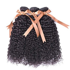 LETMESHINE HAIR SET 1B NATURAL COLOR KINKY CURLY UNPROCESSED VIRGIN HUMAN HAIR WEAVE - LetMeShine Hair