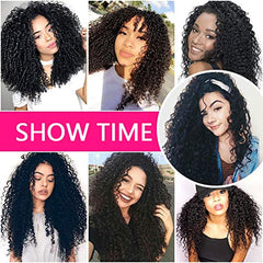 LETMESHINE 1B NATURAL COLOR KINKY CURLY UNPROCESSED VIRGIN HUMAN HAIR WEAVE SINGLE BUNDLE - LetMeShine Hair