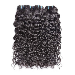 LETMESHINE KINKY CURLY HAIR WEAVE NATURAL COLOR 3 BUNDLES WITH 13*4 FRONTAL LACE CLOSURE 100% VIRGIN HUMAN HAIR - LetMeShine Hair