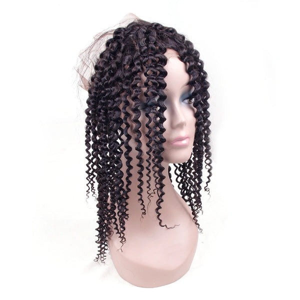 LETMESHINE 360 Lace Frontal Natural Color Kinky Curly 100% Virgin Human Hair - LetMeShine Hair