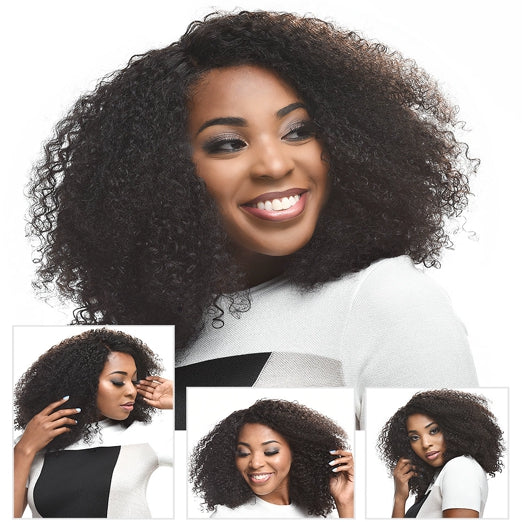 LETMESHINE FRONTAL LACE WIG KINKY CURLY NATURAL COLOR GLUELESS 100% HUMAN HAIR WIG LACE FRONT 13*4 OR 13*6 - LetMeShine Hair