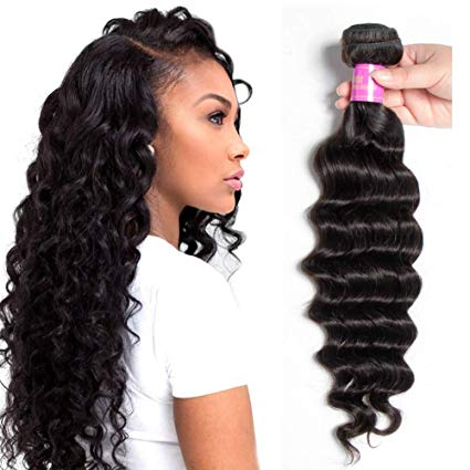 LETMESHINE 1B Natural Color Loose Deep Wave Unprocessed Virgin Human Hair Weave Single Bundle Remy Hair - LetMeShine Hair