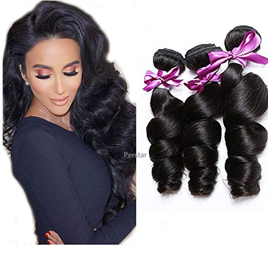 LETMESHINE 1B Natural Color Loose Wave Unprocessed Virgin Human Hair Weave Single Bundle Remy Hair - LetMeShine Hair