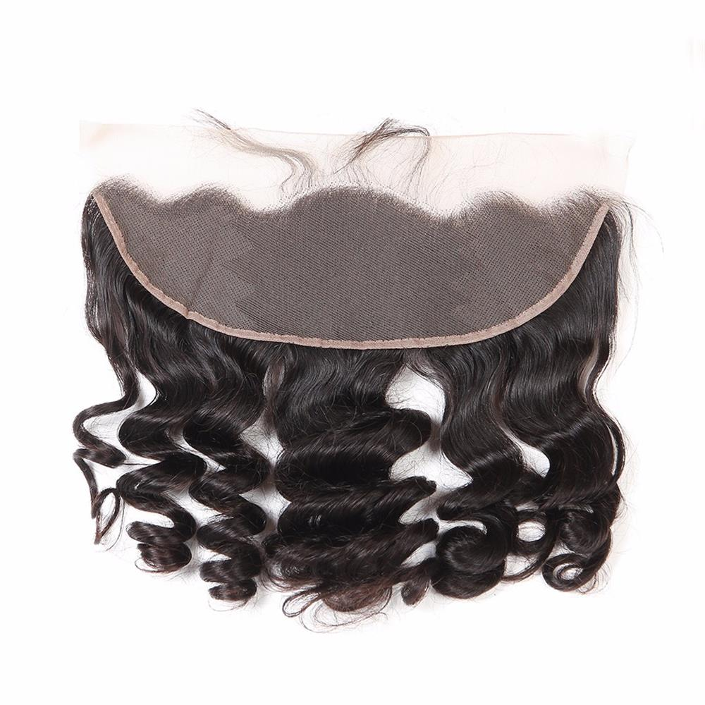 LETMESHINE Natural Color Loose Wave 13*4 or 13*6 Lace Frontal Three Part Middle Part And Free Part 100% Virgin Human Hair - LetMeShine Hair