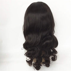 LETMESHINE 360 WIG LOOSE WAVE #1B NATURAL COLOR GLUELESS 100% HUMAN HAIR WIG - LetMeShine Hair
