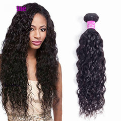 LETMESHINE NATURAL WAVE Hair Weave Natural Color 3 Bundles With 4*4  Lace Closure 100% Virgin Human Hair - LetMeShine Hair