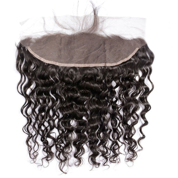 LETMESHINE NATURAL COLOR Natural wave 13*4 OR 13*6 LACE FRONTAL THREE PART MIDDLE PART AND FREE PART 100% VIRGIN HUMAN HAIR - LetMeShine Hair