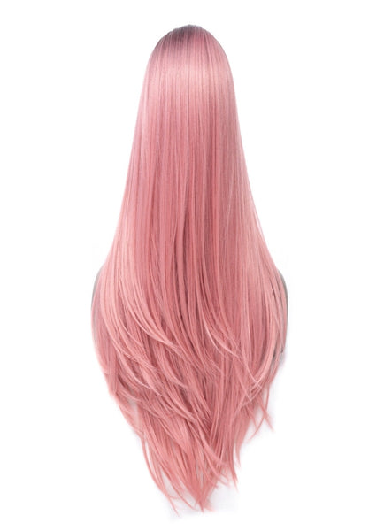 LETMESHINE  LACE WIG #PINK COLOR GLUELESS 100% HUMAN HAIR WIG FRONTAL LACE WIG FULL LACE WIG 360 WIG - LetMeShine Hair