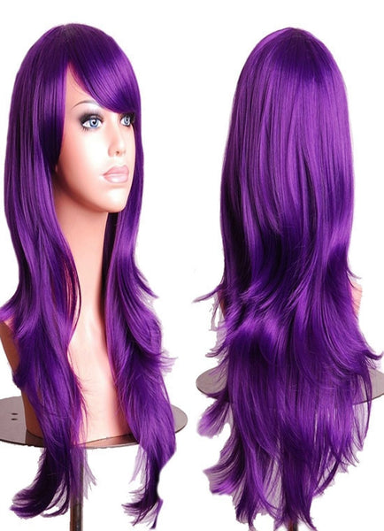 LETMESHINE  LACE WIG #PURPLE COLOR GLUELESS 100% HUMAN HAIR WIG FRONTAL LACE WIG FULL LACE WIG 360 WIG - LetMeShine Hair